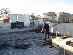Positioning and laying copper refrigerant pipework